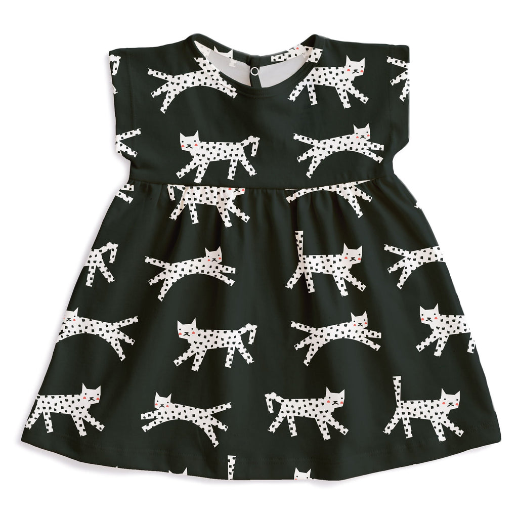 Merano Baby Dress - Cats Black