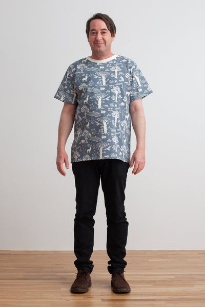 Mason Tee - In the Forest Slate Blue
