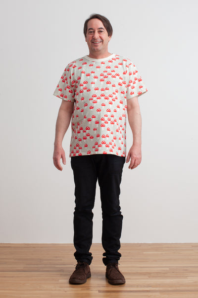 Mason Tee - Mushrooms Sage