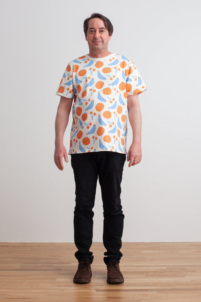 Mason Tee - Yummy Fruit Blue & Orange