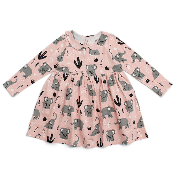 Nashville Dress - Elephants Pink