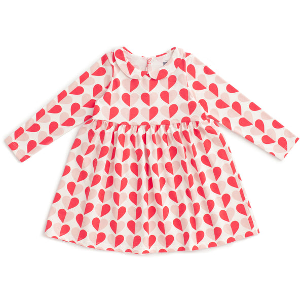 Nashville Dress - Hearts Red & Pink