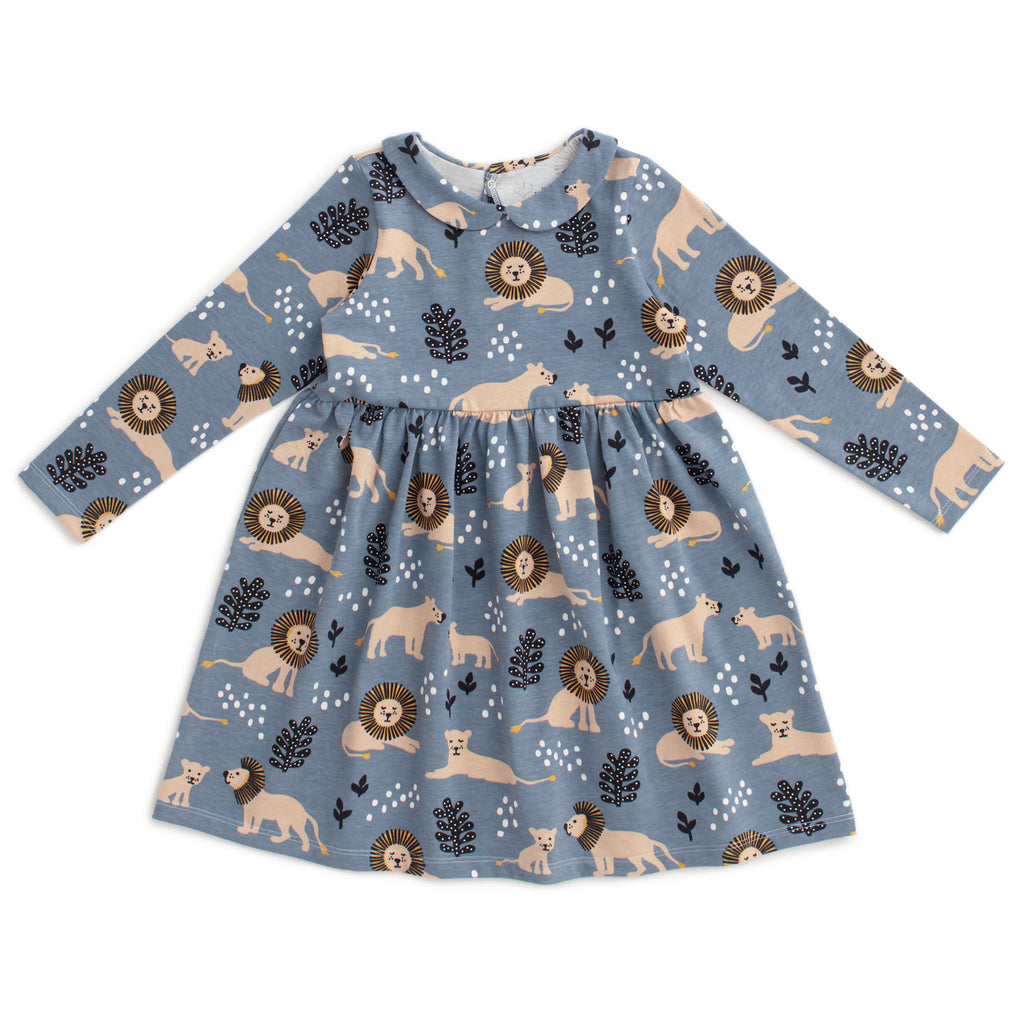 Nashville Dress - Lions Slate Blue