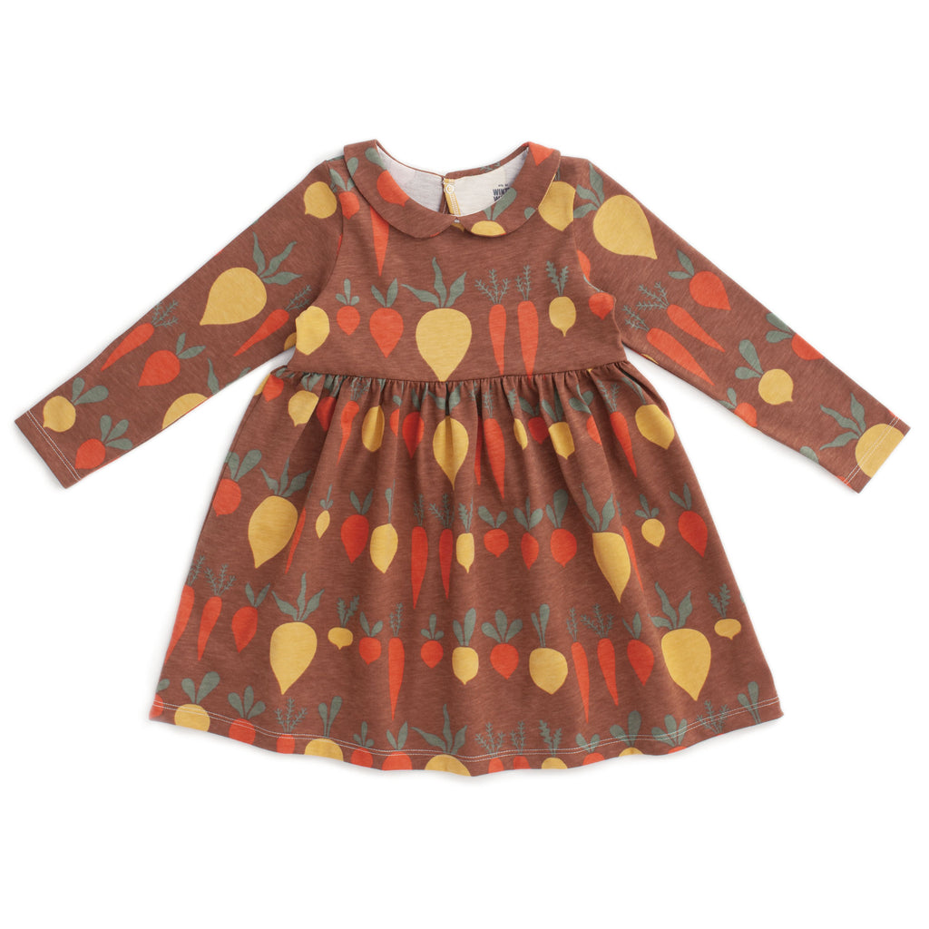 Nashville Dress - Root Vegetables Chestnut