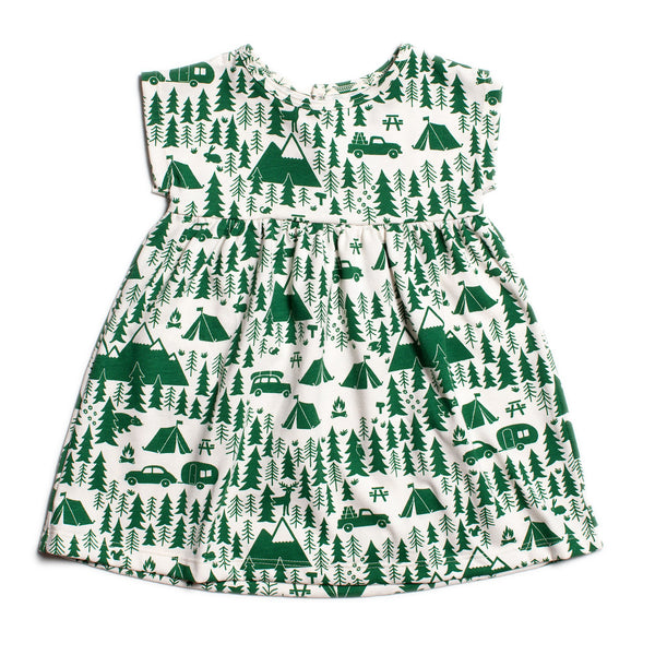 Merano Baby Dress - Campground Green
