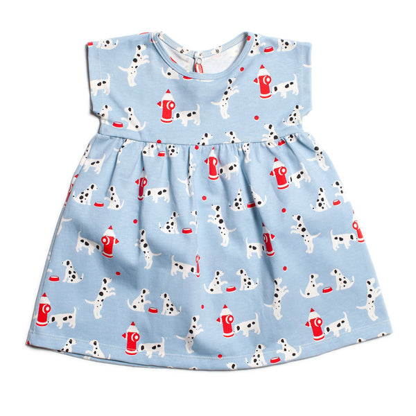 Merano Baby Dress - Dalmatians Blue