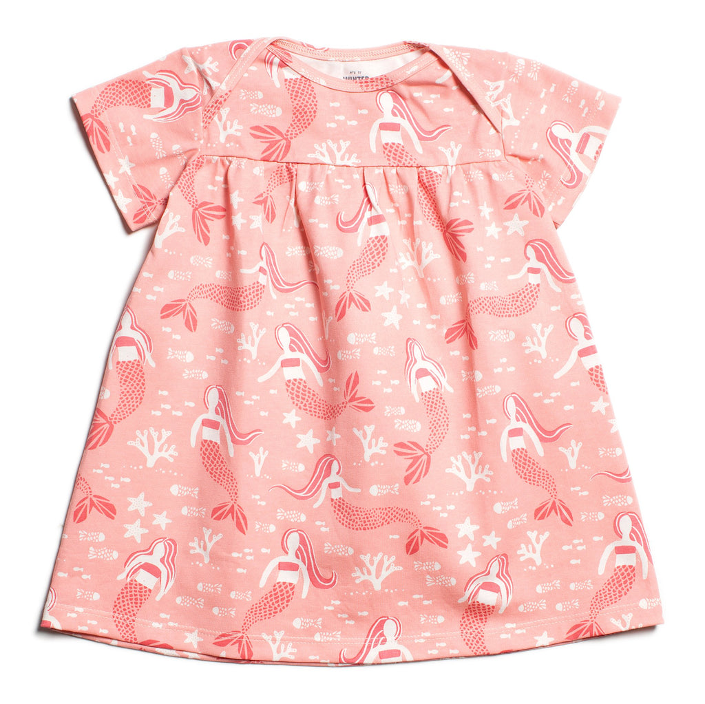 Lucca Baby Dress - Mermaids  Pink
