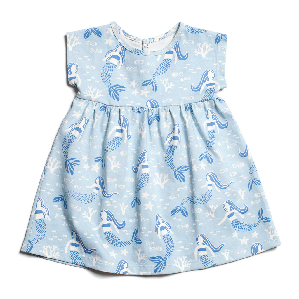 Merano Baby Dress - Mermaids Blue