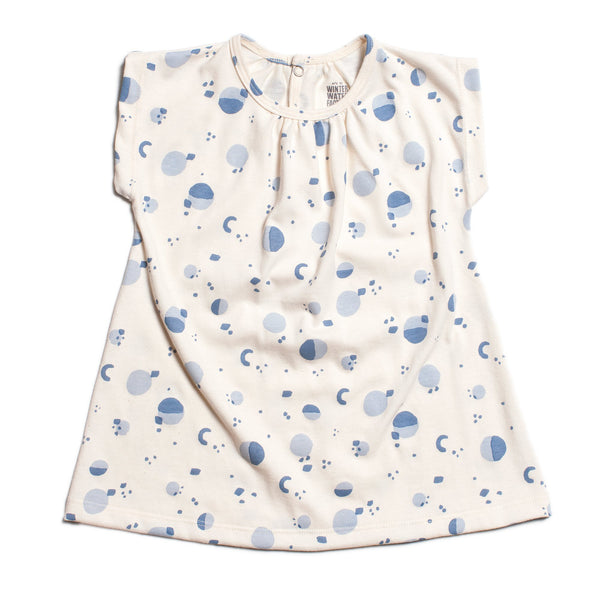 Olympia Baby Dress - Particles Blue