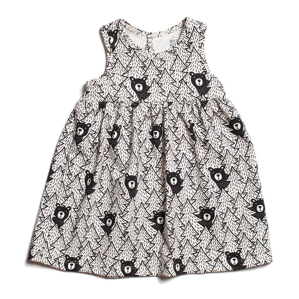Oslo Baby Dress - Bears Black