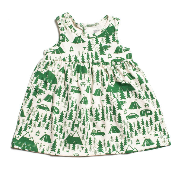 Oslo Baby Dress - Campground Green