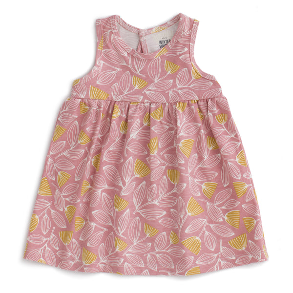 Oslo Baby Dress - Holland Floral Dusty Pink & Yellow