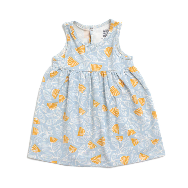 Oslo Baby Dress - Holland Floral Blue & Yellow