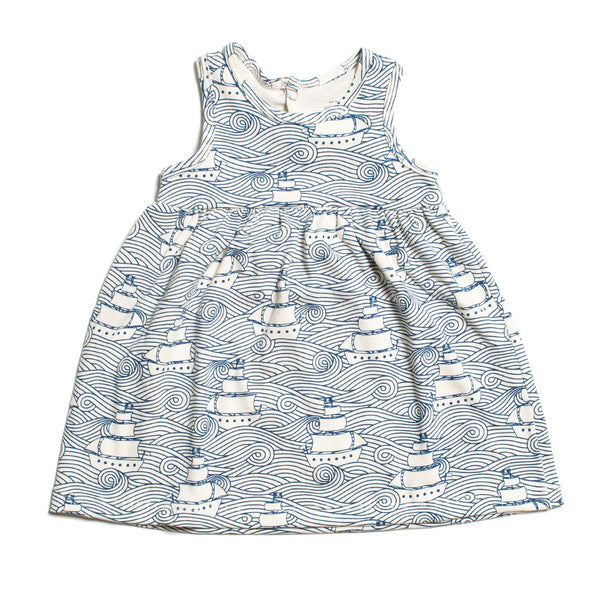 Oslo Baby Dress - High Seas Navy