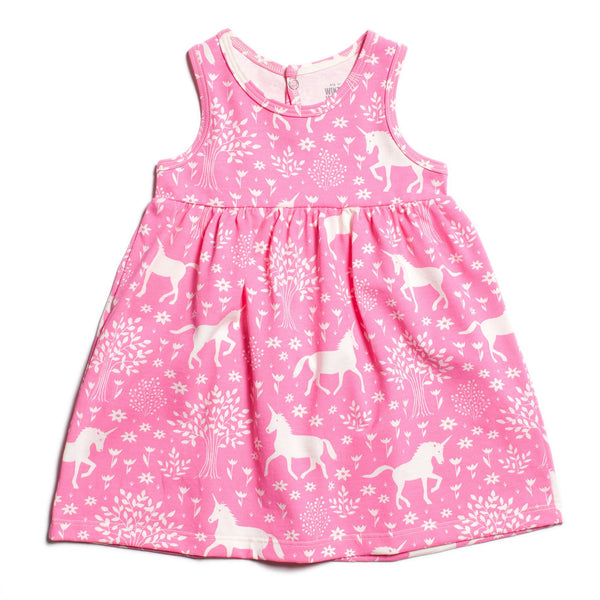 Oslo Baby Dress - Magical Forest Pink
