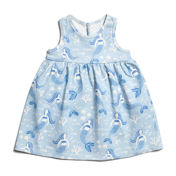 Oslo Baby Dress - Mermaids Blue