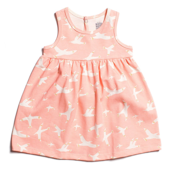 Oslo Baby Dress - Skybirds Blush Pink
