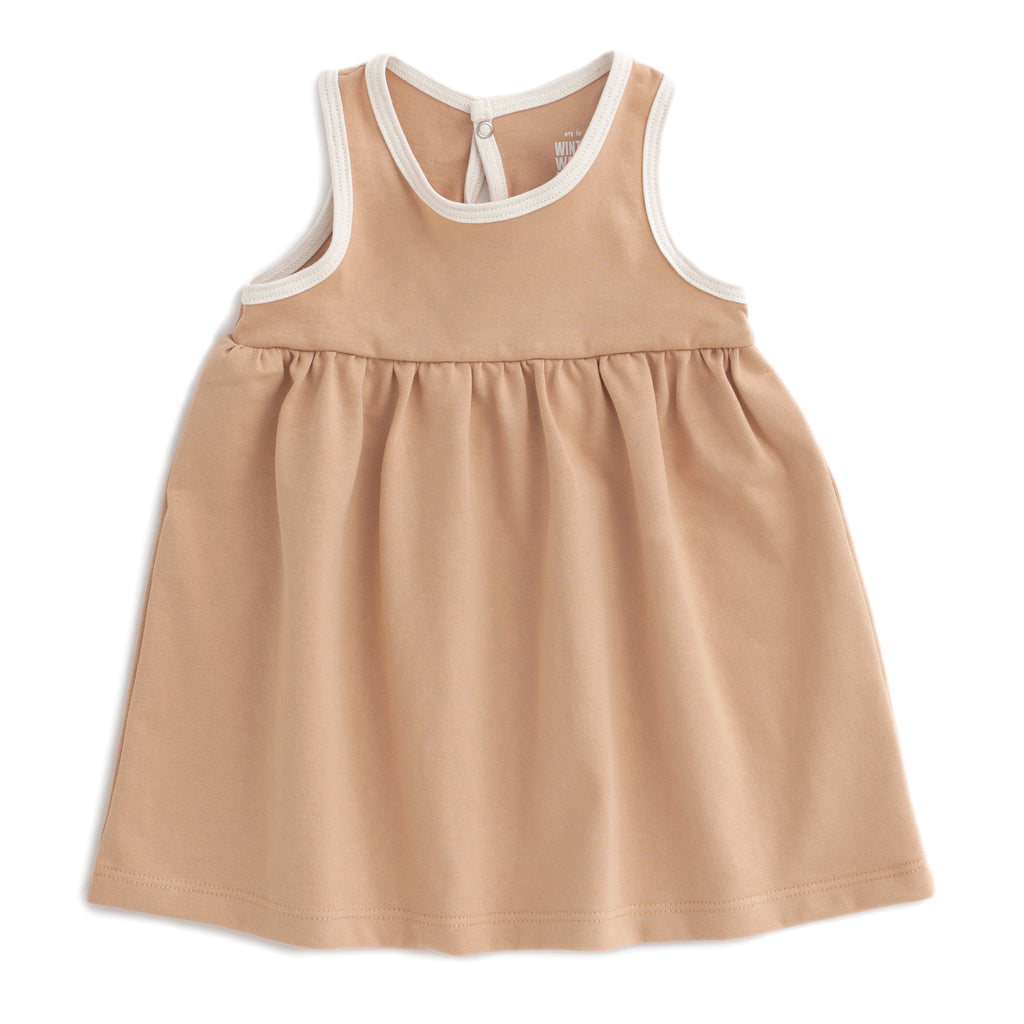 Oslo Baby Dress - Solid Camel