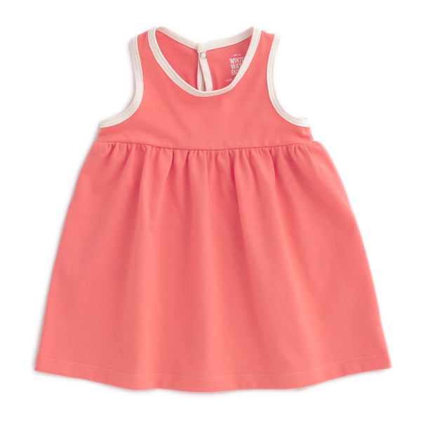 Oslo Baby Dress - Solid Coral