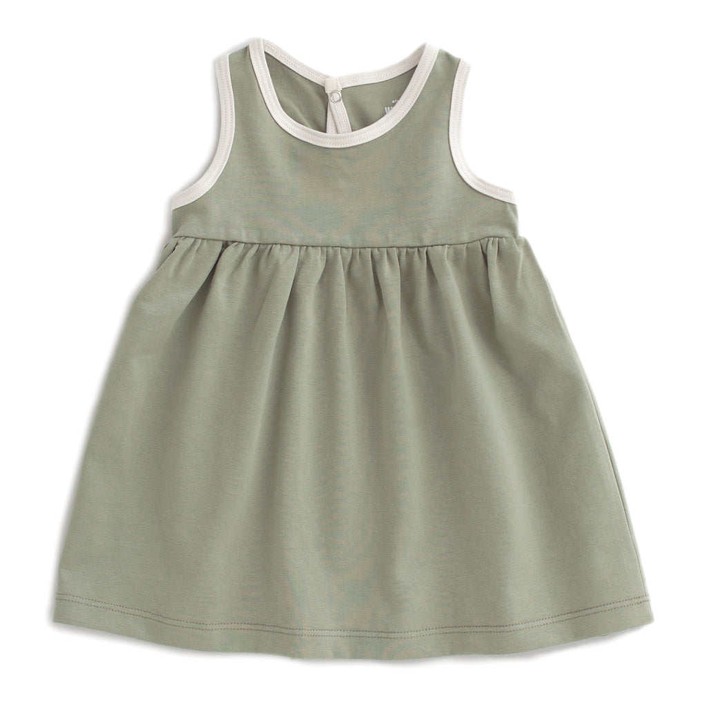 Oslo Baby Dress - Solid Sage