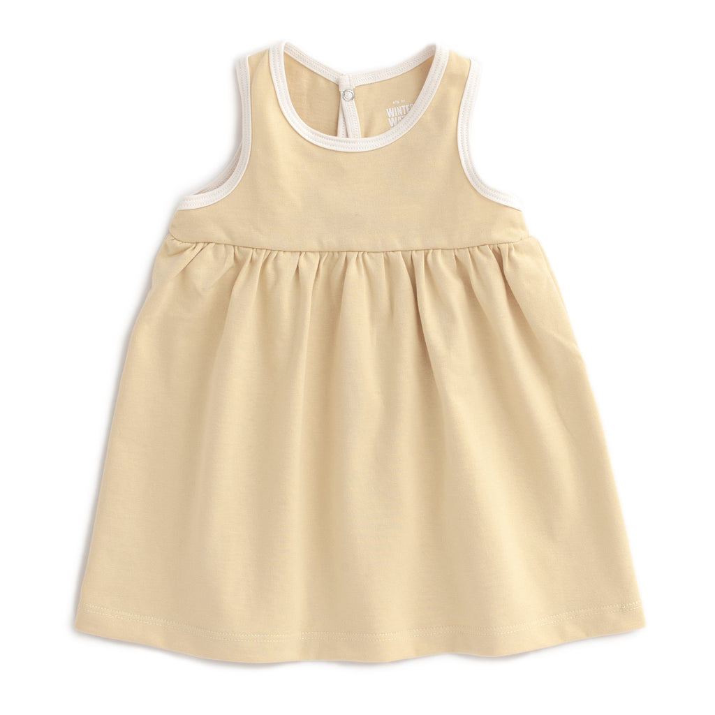 Oslo Baby Dress - Solid Yellow
