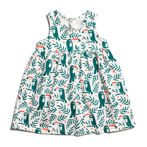 Oslo Baby Dress - Toucans Green