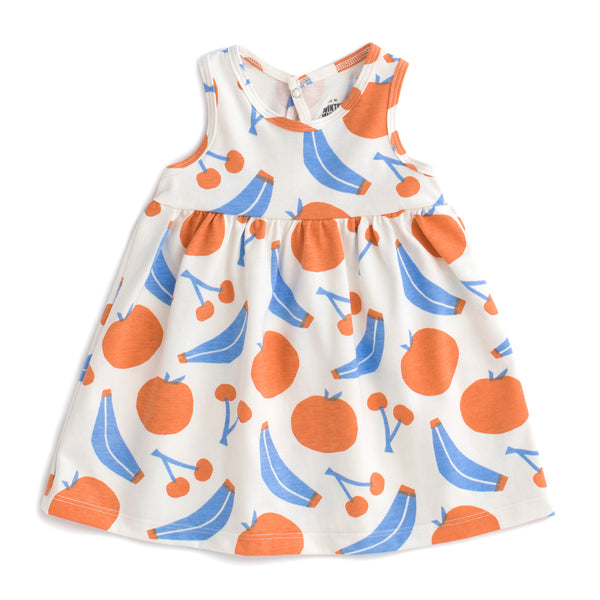 Oslo Baby Dress - Yummy Fruit Blue & Orange