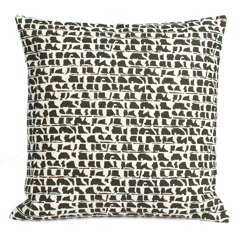 Belgian Linen Pillow Case - Corrugated Charcoal