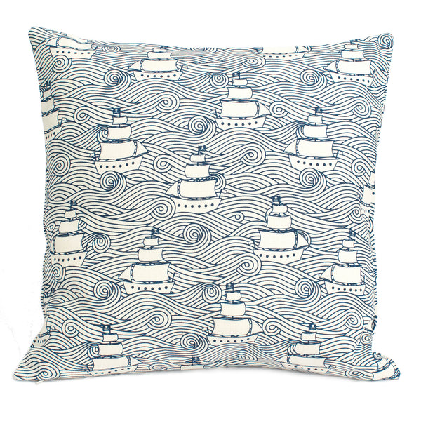 Belgian Linen Pillow Case - High Seas Navy