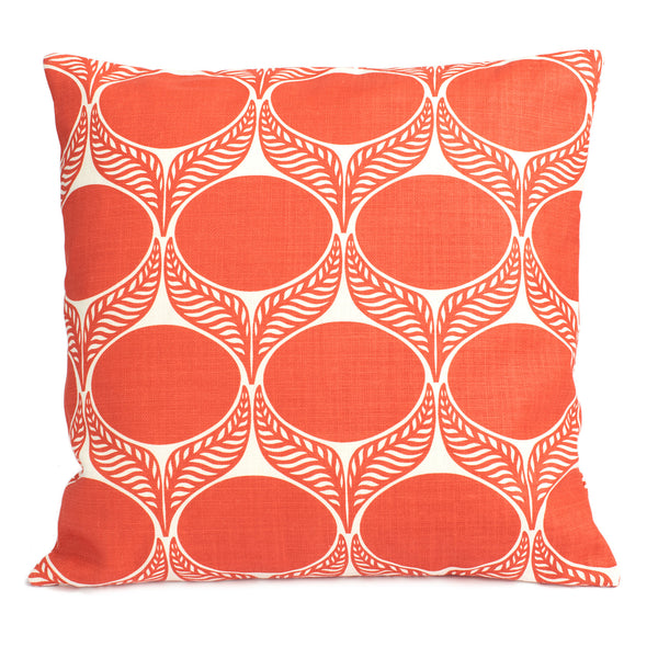 Belgian Linen Pillow Case - June Leaf Coral