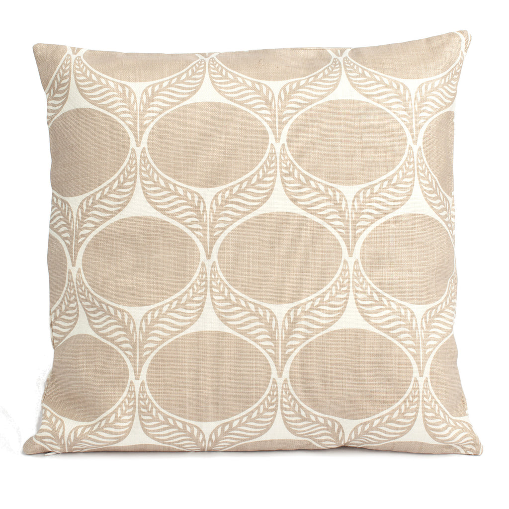 Belgian Linen Pillow Case - June Leaf Khaki