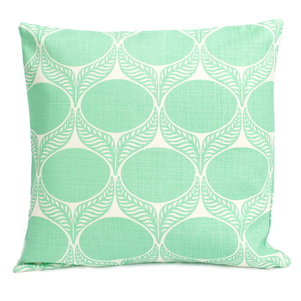 Belgian Linen Pillow Case - June Leaf Mint