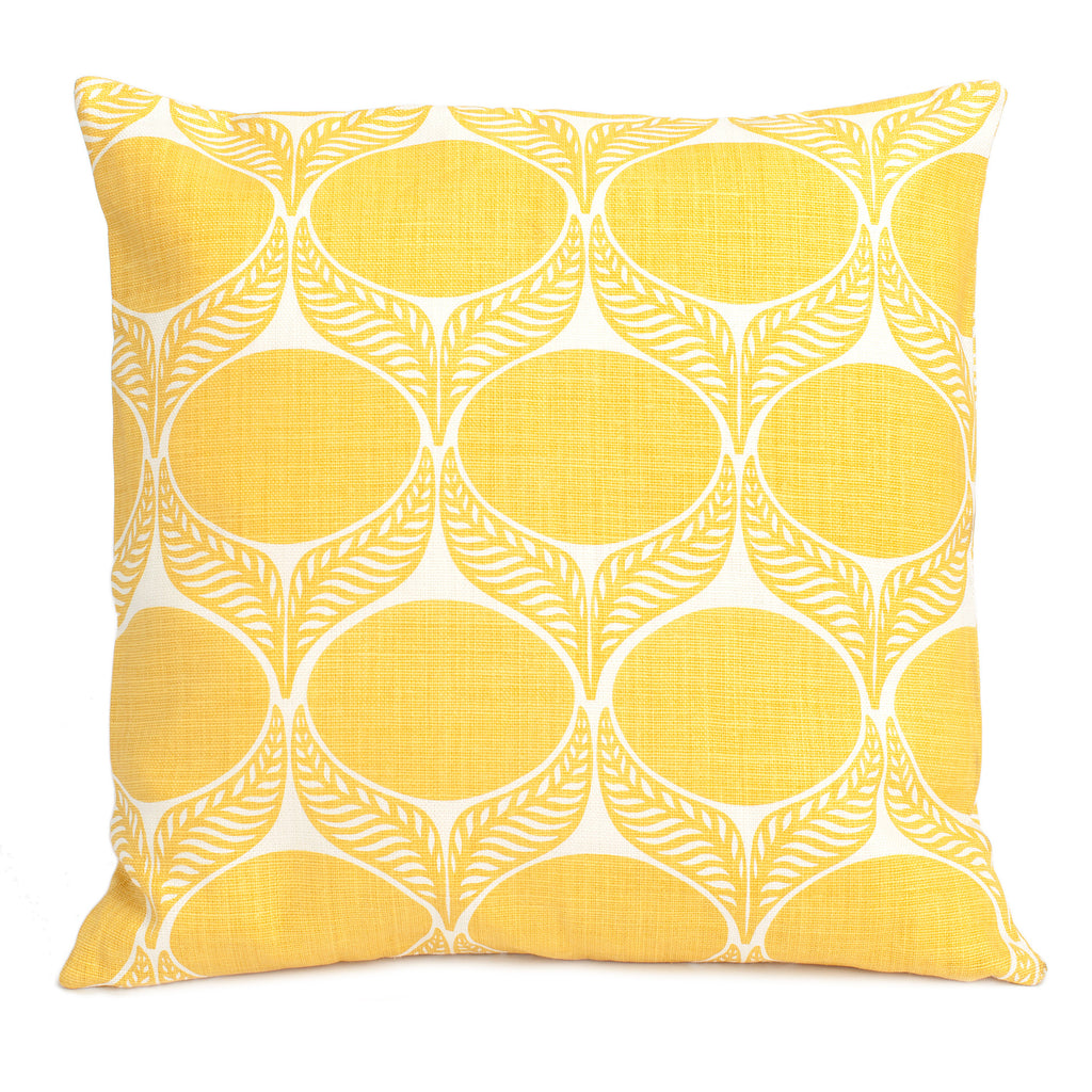 Belgian Linen Pillow Case - June Leaf Yellow