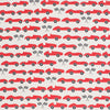 Fitted Crib Sheet - Race Cars Red