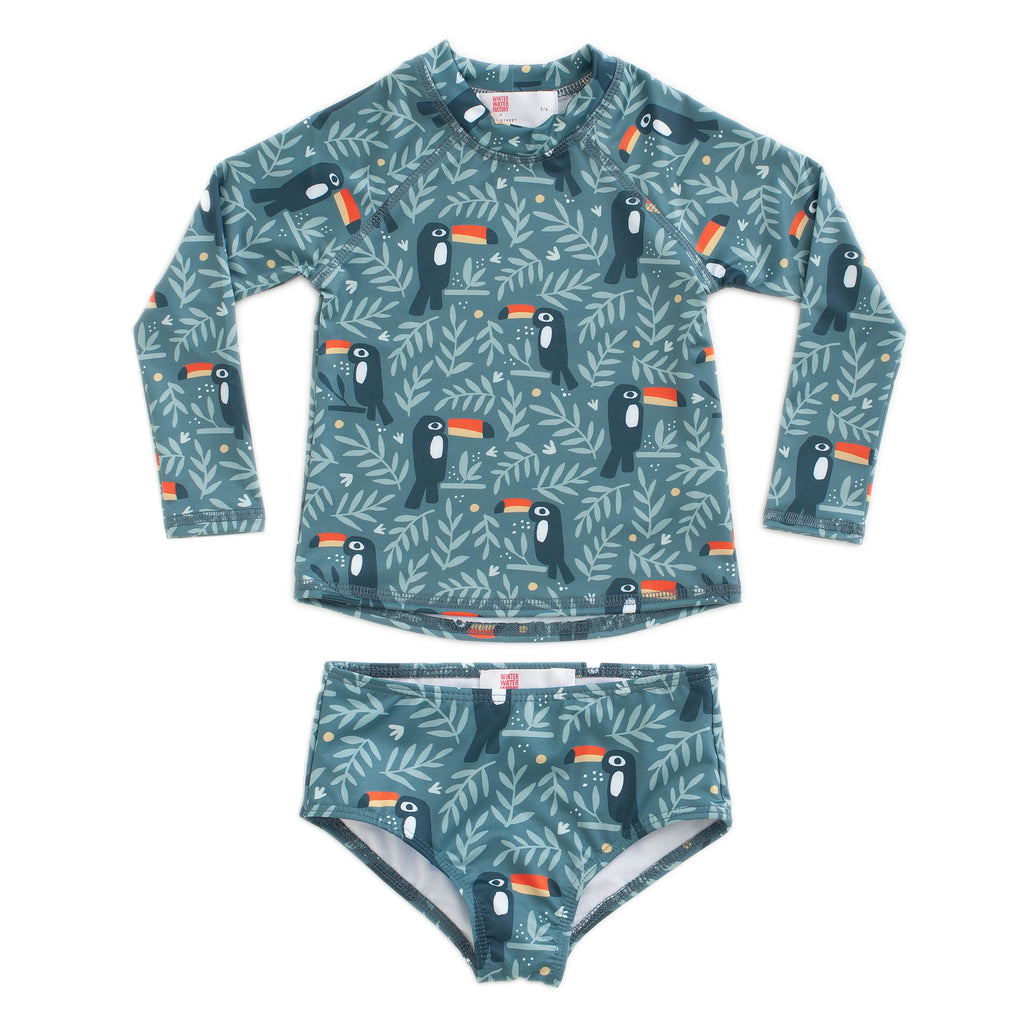 Winter Water Factory x Pearl Street Swim Toucans Rashguard Set