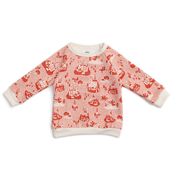 Sweatshirt - Castles & Villages Pink & Orange