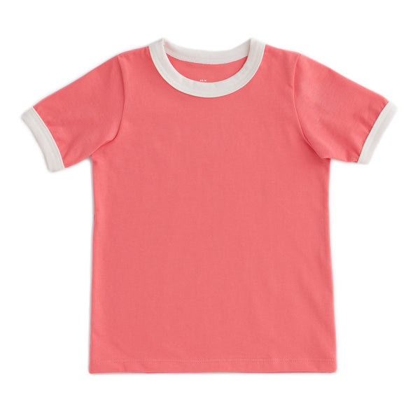 Ringer Tee - Solid Coral