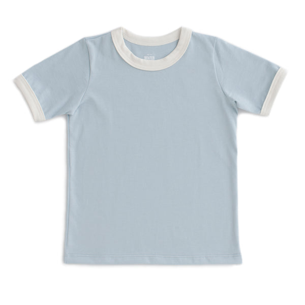 Ringer Tee - Solid Pale Blue