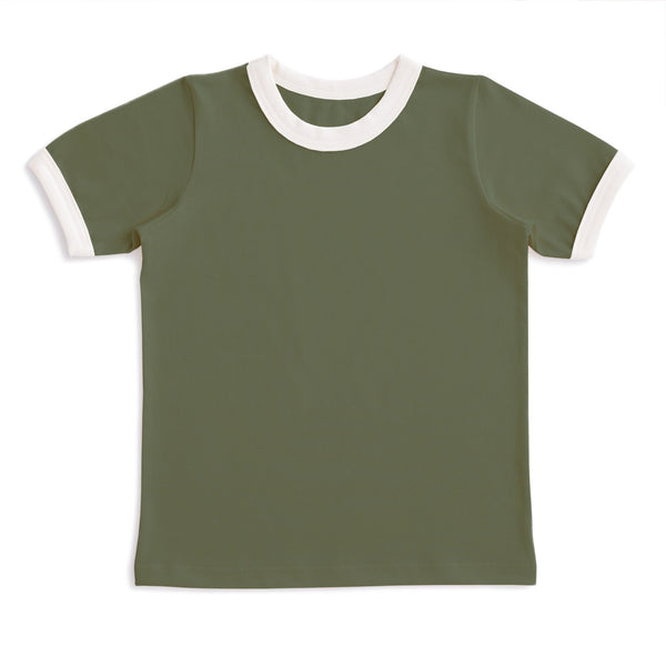 Ringer Tee - Forest Green