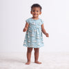 Merano Baby Dress - Vintage Sailboats Ocean Blue & Teal