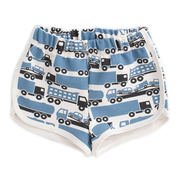 French Terry Shorts - Big Rigs Blue