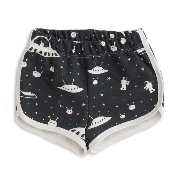 French Terry Shorts - Outer Space Charcoal