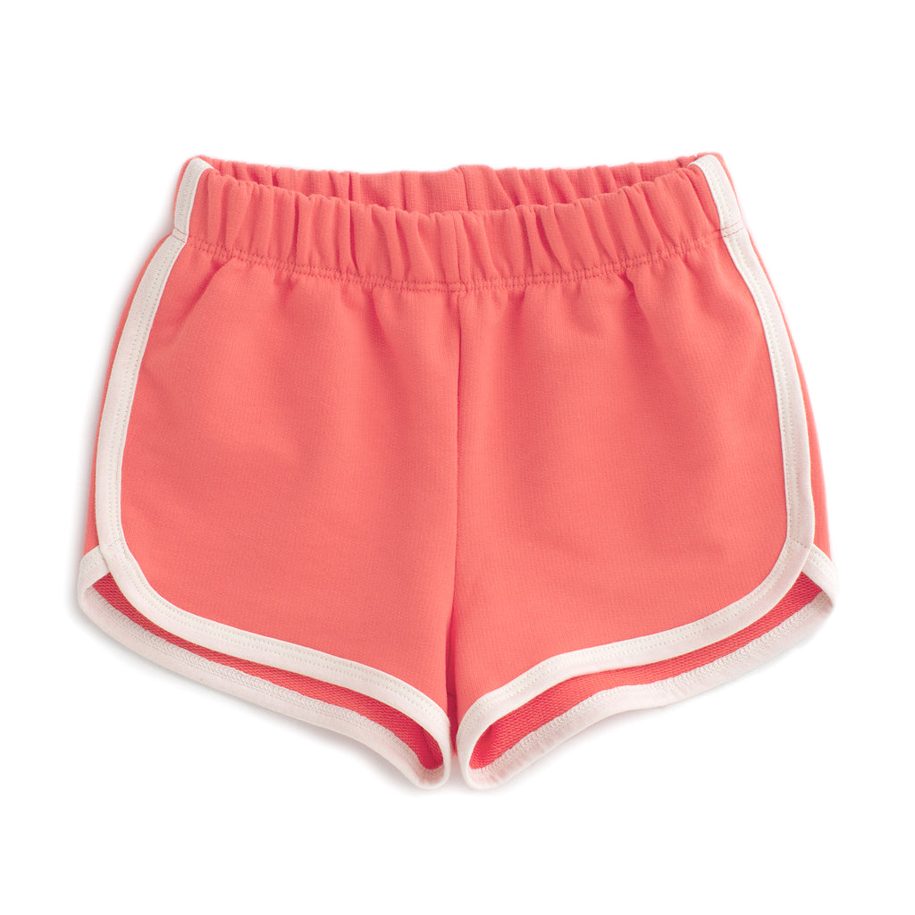 French Terry Shorts - Solid Coral