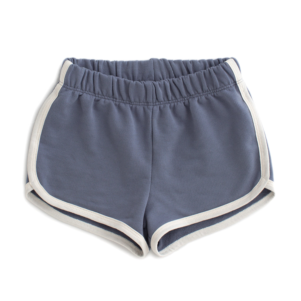 French Terry Shorts - Solid Slate Blue