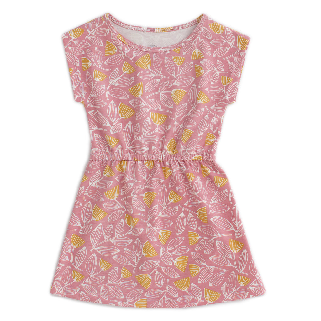 Sierra Dress - Holland Floral Dusty Pink & Yellow