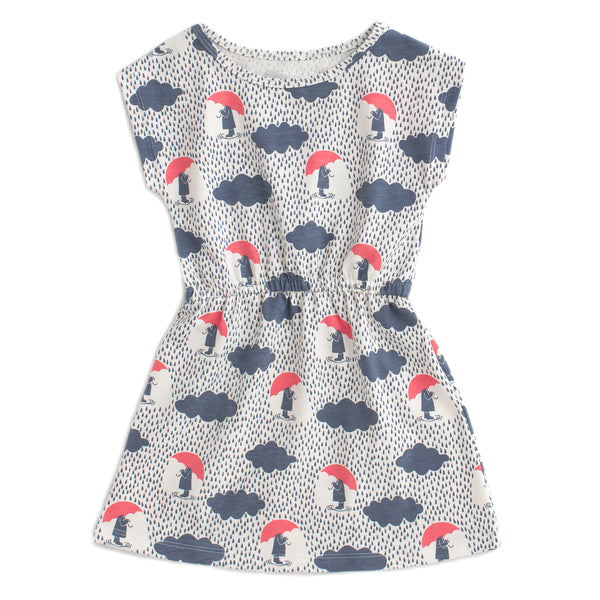 Sierra Dress - Summer Rain Slate Blue & Coral