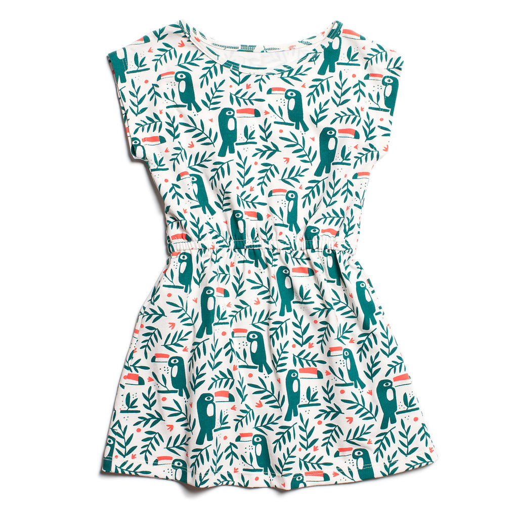 Sierra Dress - Toucans Green