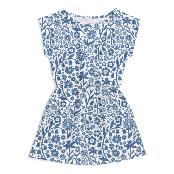 Sierra Dress - Dutch Floral Delft Blue