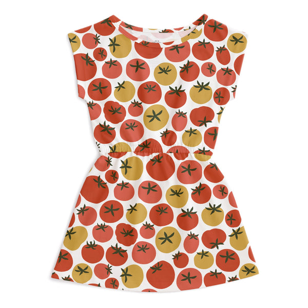 Sierra Dress - Tomatoes Red & Yellow