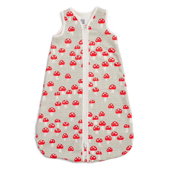 Organic Baby Sleep Bag - Mushrooms Sage